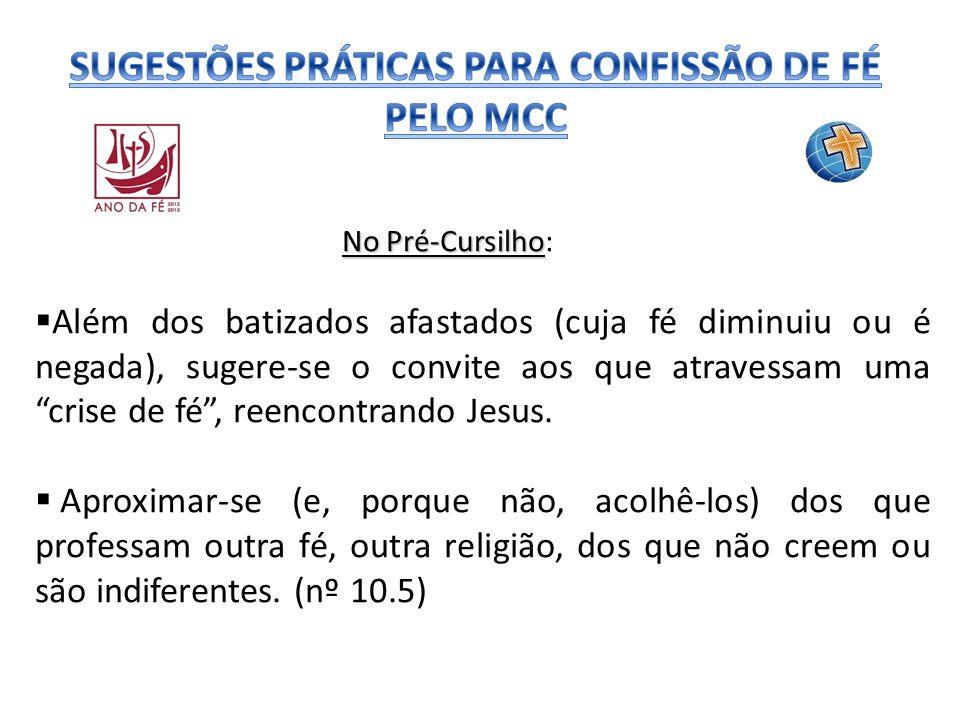SUGESTÕES PRÁTICAS PARA CONFISSÃO DE FÉ