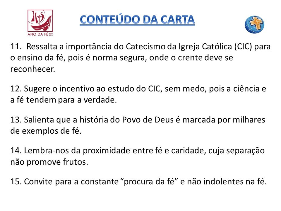 CONTEÚDO DA CARTA