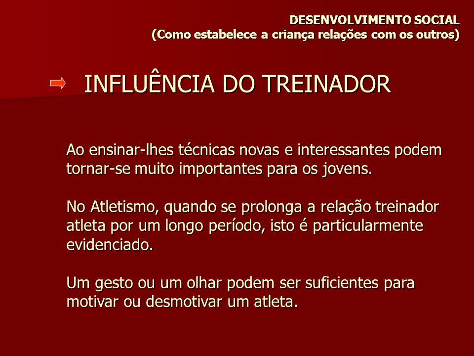 INFLUÊNCIA DO TREINADOR