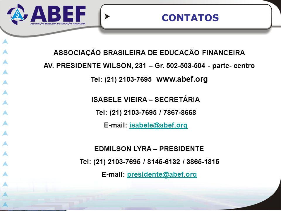 CONTATOS ASSOCIAÇÃO BRASILEIRA DE EDUCAÇÃO FINANCEIRA