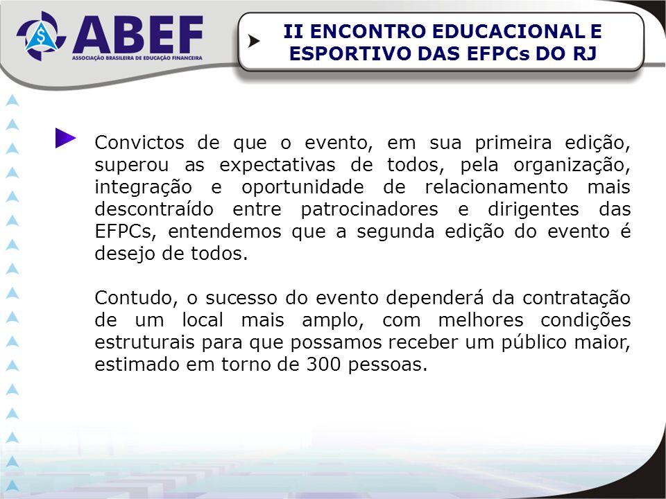 II ENCONTRO EDUCACIONAL E ESPORTIVO DAS EFPCs DO RJ