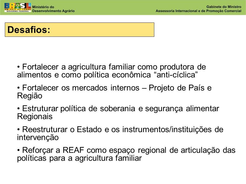 Desafios: Fortalecer a agricultura familiar como produtora de alimentos e como política econômica anti-cíclica
