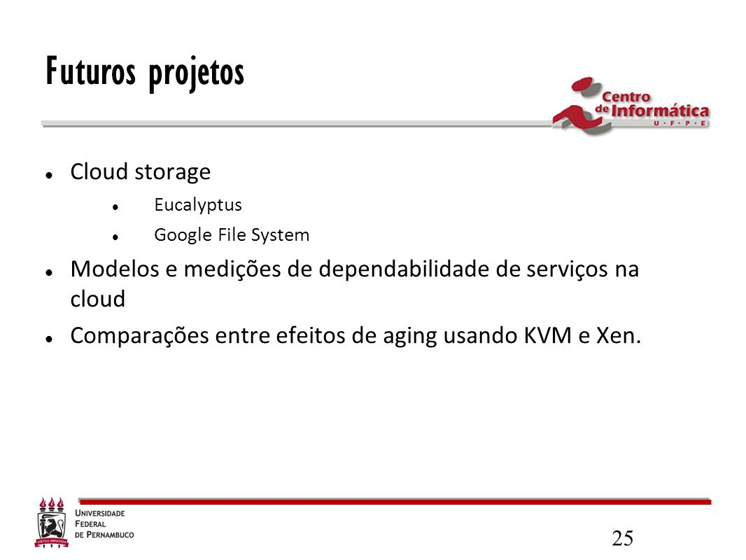 Futuros projetos Cloud storage