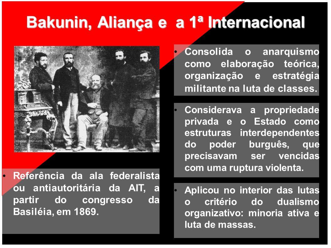 Bakunin, Aliança e a 1ª Internacional