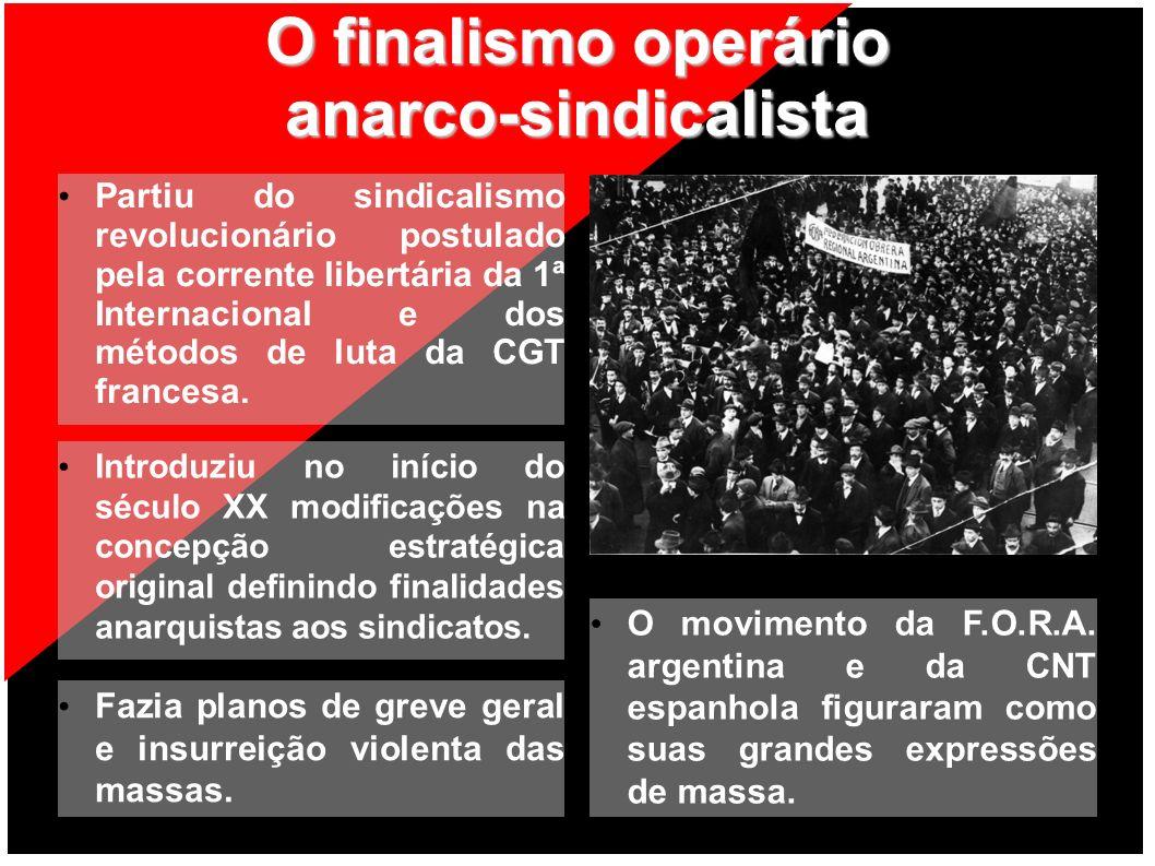 O finalismo operário anarco-sindicalista