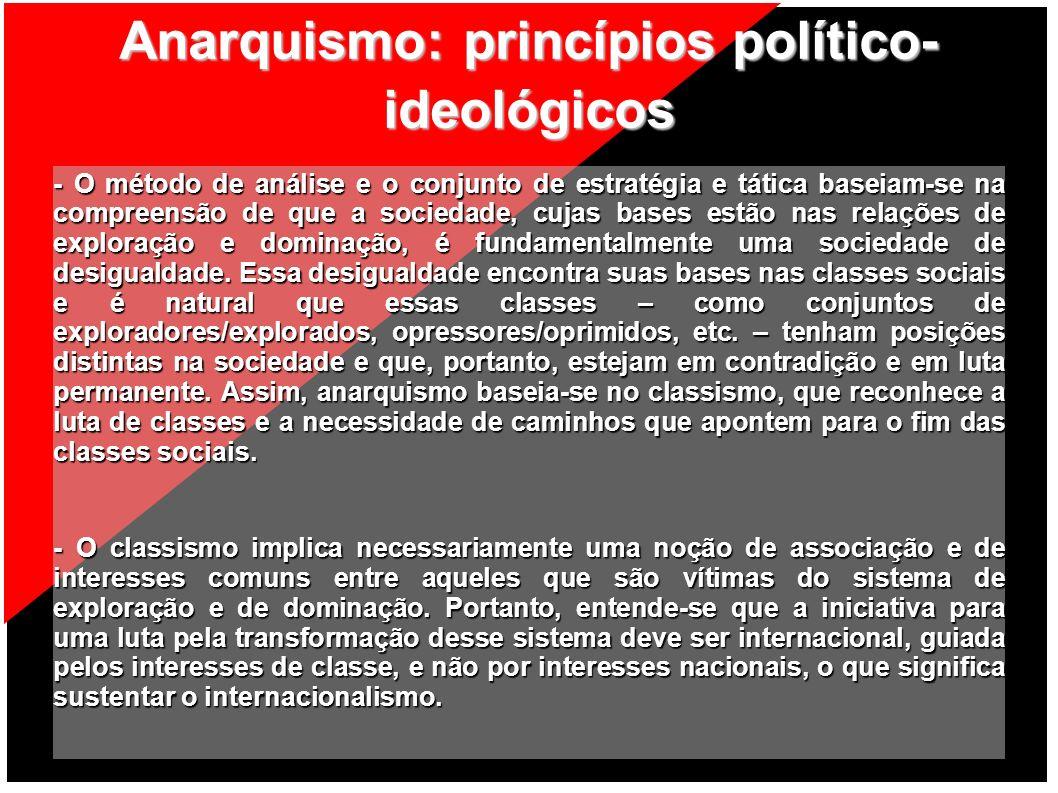 Anarquismo: princípios político-ideológicos