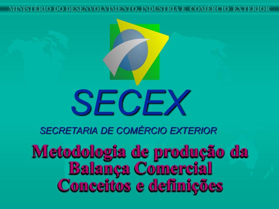 SECEX Metodologia de produção da Balança Comercial