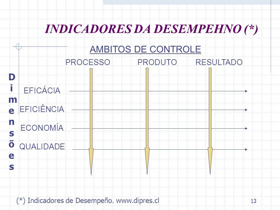 INDICADORES DA DESEMPEHNO (*)