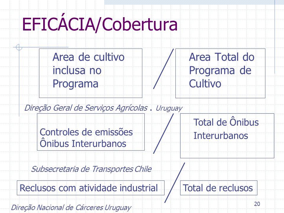 EFICÁCIA/Cobertura Area de cultivo inclusa no Programa