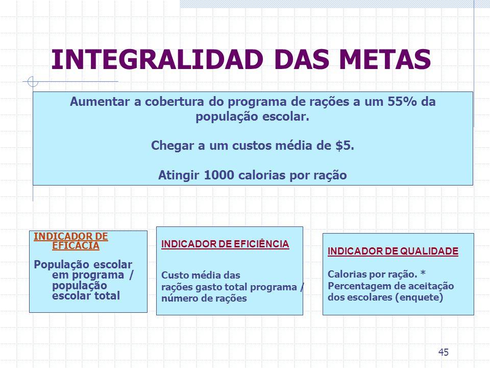 INTEGRALIDAD DAS METAS