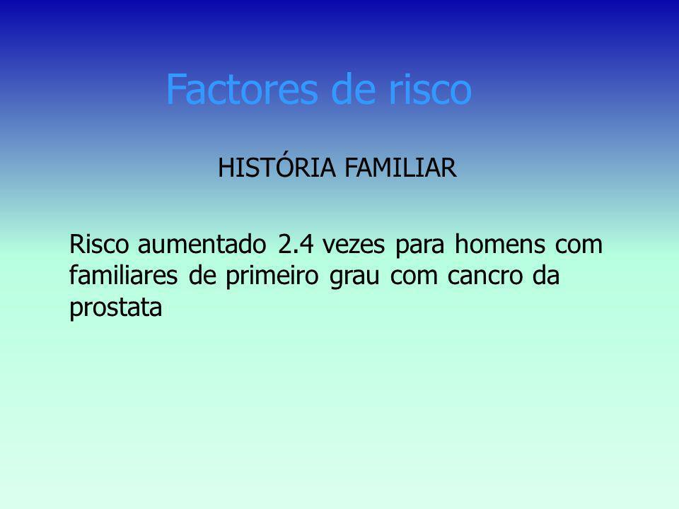 Factores de risco HISTÓRIA FAMILIAR