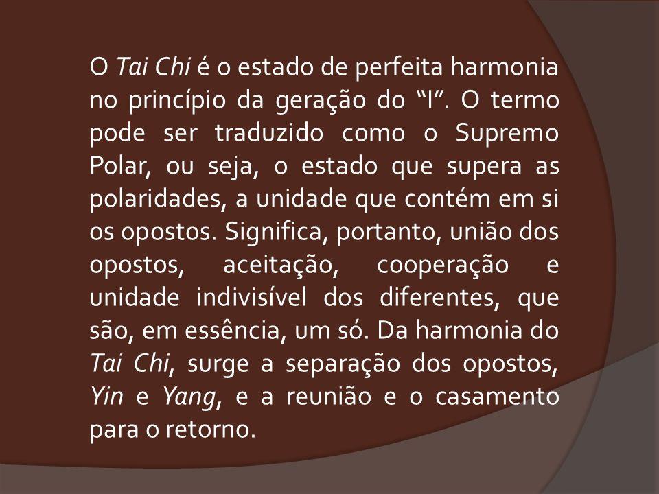 O Tai Chi é o estado de perfeita harmonia no princípio da geração do I .