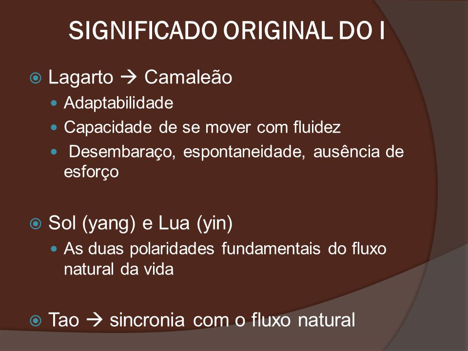SIGNIFICADO ORIGINAL DO I