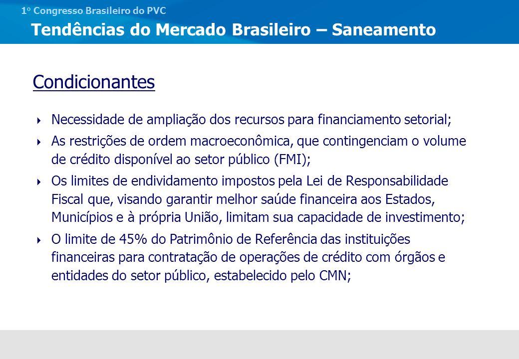 Tendências do Mercado Brasileiro – Saneamento