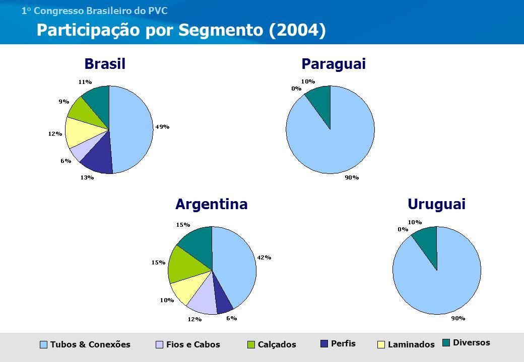 Participação por Segmento (2004)