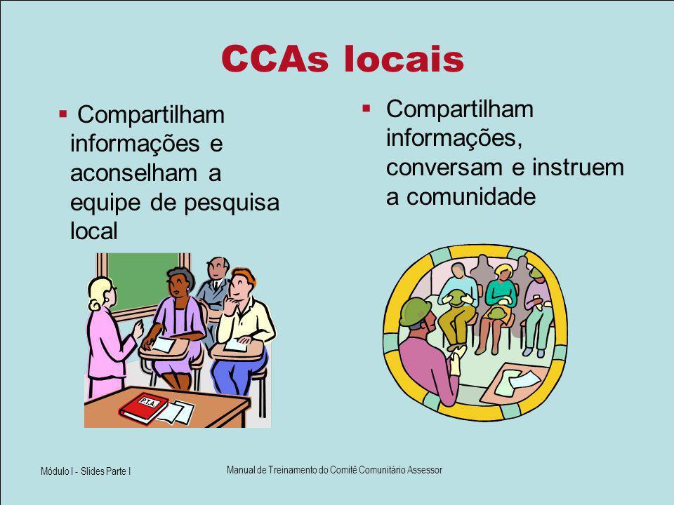 Qualidades de um membro ideal do CCA.