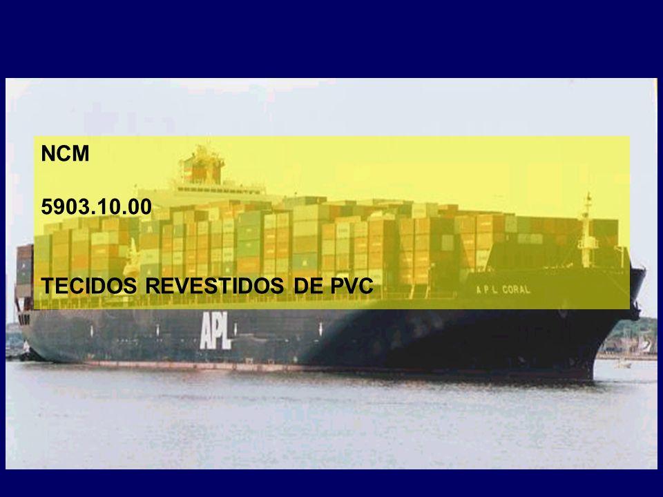 NCM 5903.10.00 TECIDOS REVESTIDOS DE PVC