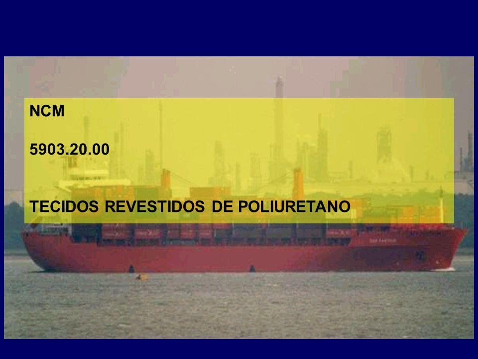 NCM 5903.20.00 TECIDOS REVESTIDOS DE POLIURETANO