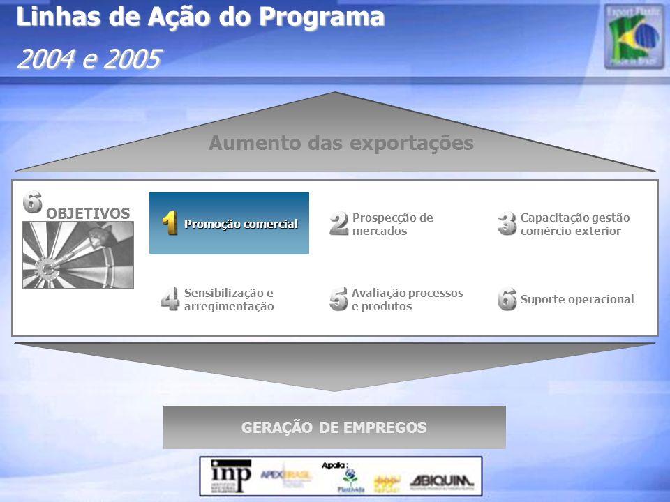 Linhas de Ação do Programa 2004 e 2005