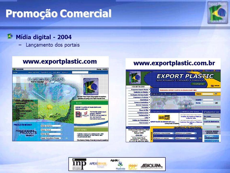 Promoção Comercial Mídia digital - 2004 Lançamento dos portais
