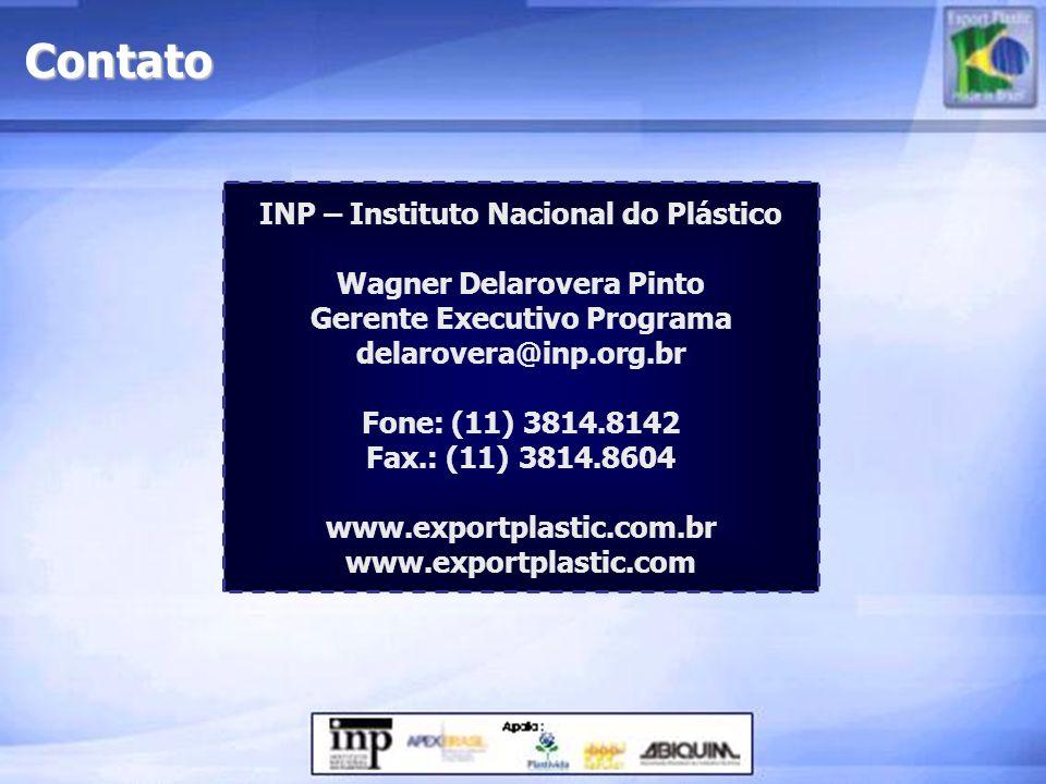 Contato INP – Instituto Nacional do Plástico Wagner Delarovera Pinto