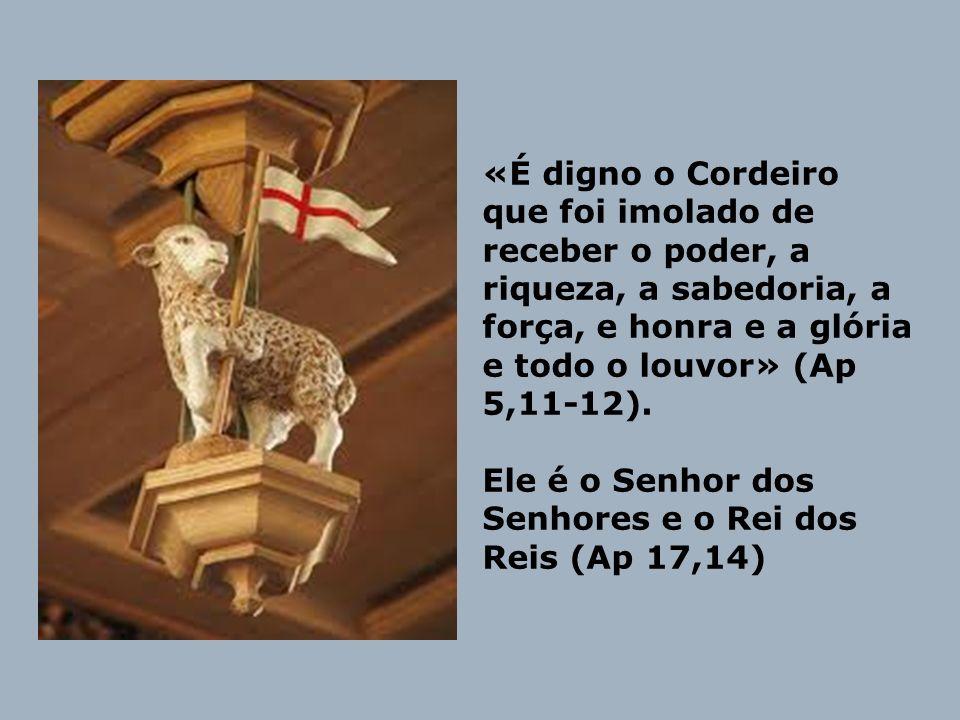 «É digno o Cordeiro que foi imolado de receber o poder, a riqueza, a sabedoria, a força, e honra e a glória e todo o louvor» (Ap 5,11-12).