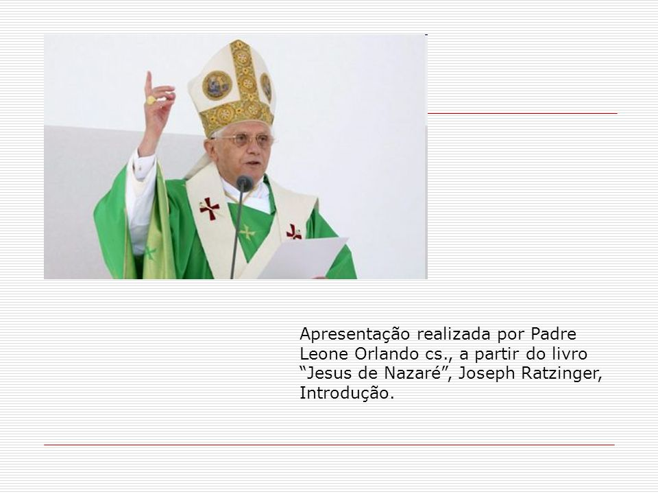 Apresentação realizada por Padre Leone Orlando cs