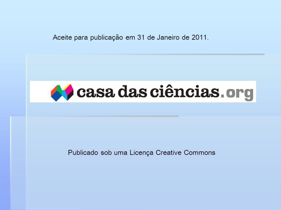 Publicado sob uma Licença Creative Commons