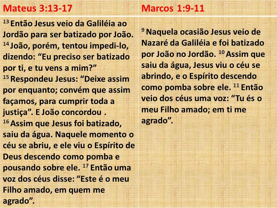 Mateus 3:13-17 Marcos 1:9-11.