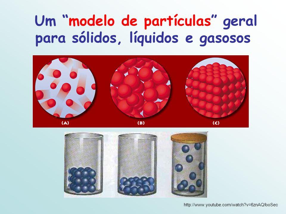 Um modelo de partículas geral para sólidos, líquidos e gasosos