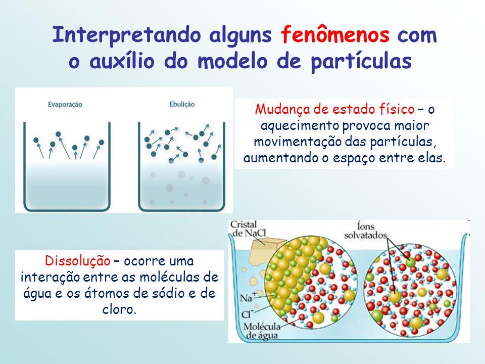Interpretando alguns fenômenos com o auxílio do modelo de partículas