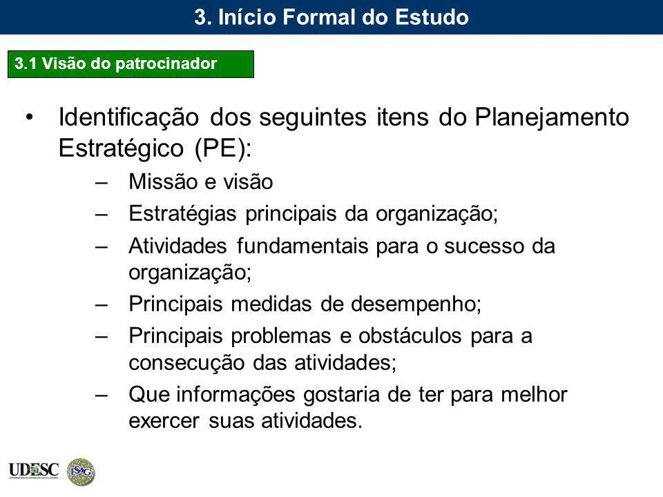 3. Início Formal do Estudo