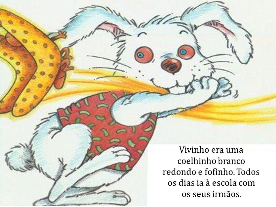 Vivinho era uma coelhinho branco redondo e fofinho