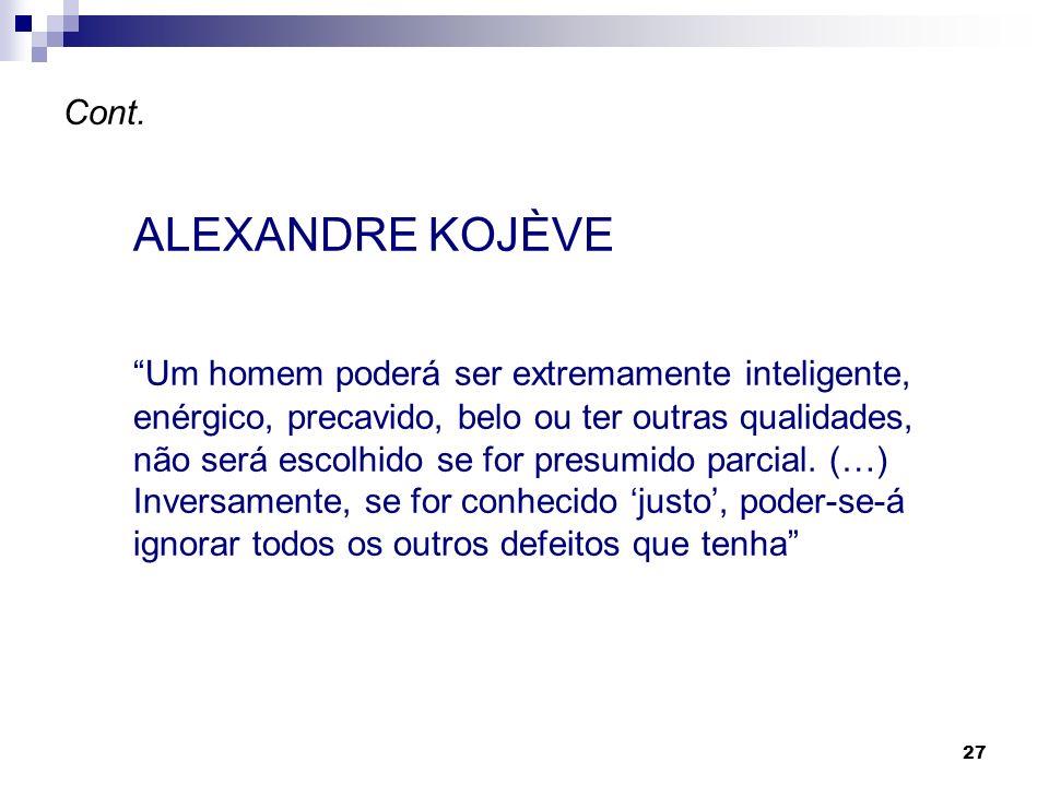 Cont.ALEXANDRE KOJÈVE.