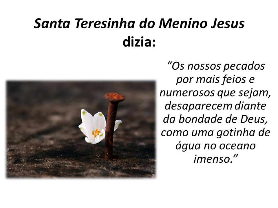 Santa Teresinha do Menino Jesus dizia: