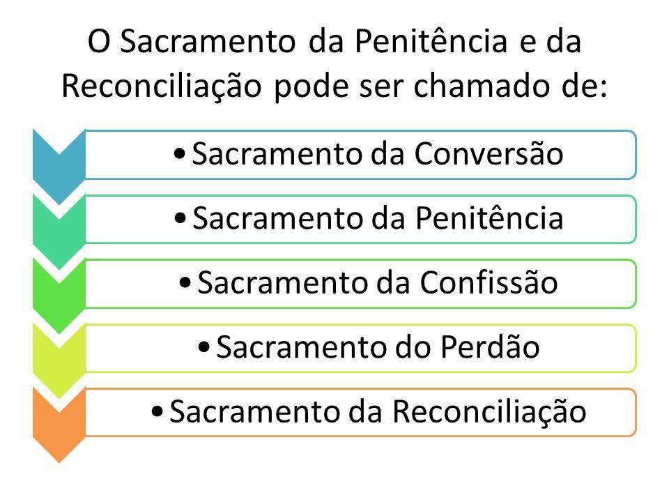 O Sacramento da Penitência e da Reconciliação pode ser chamado de: