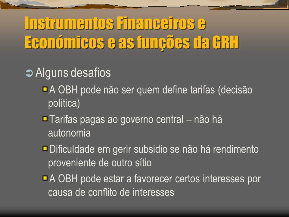 Instrumentos Financeiros e Económicos e as funções da GRH