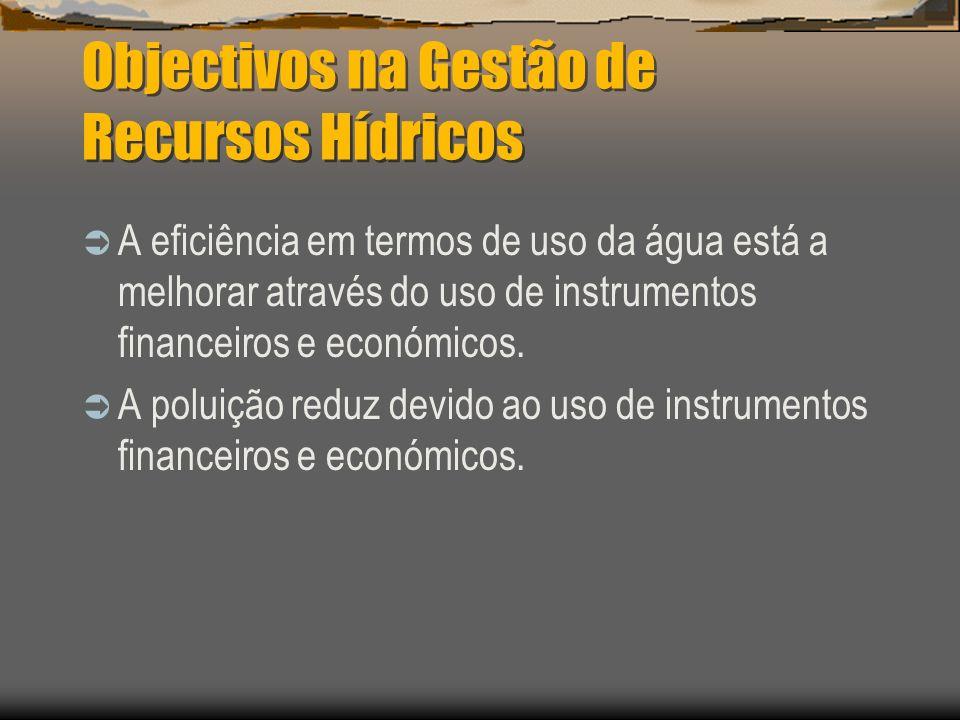 Objectivos na Gestão de Recursos Hídricos