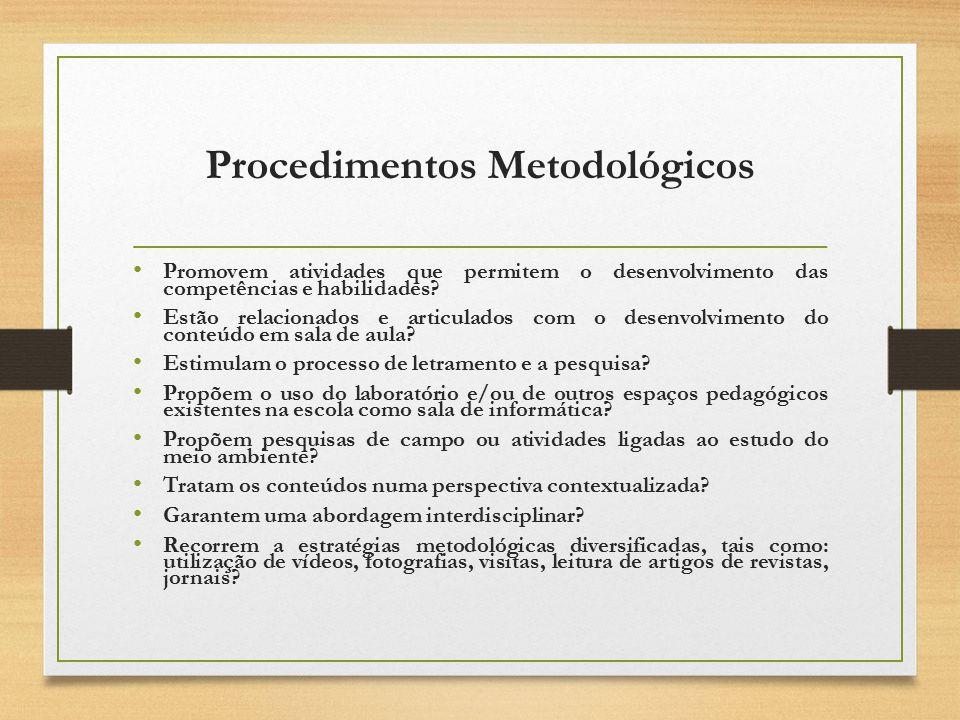 Procedimentos Metodológicos