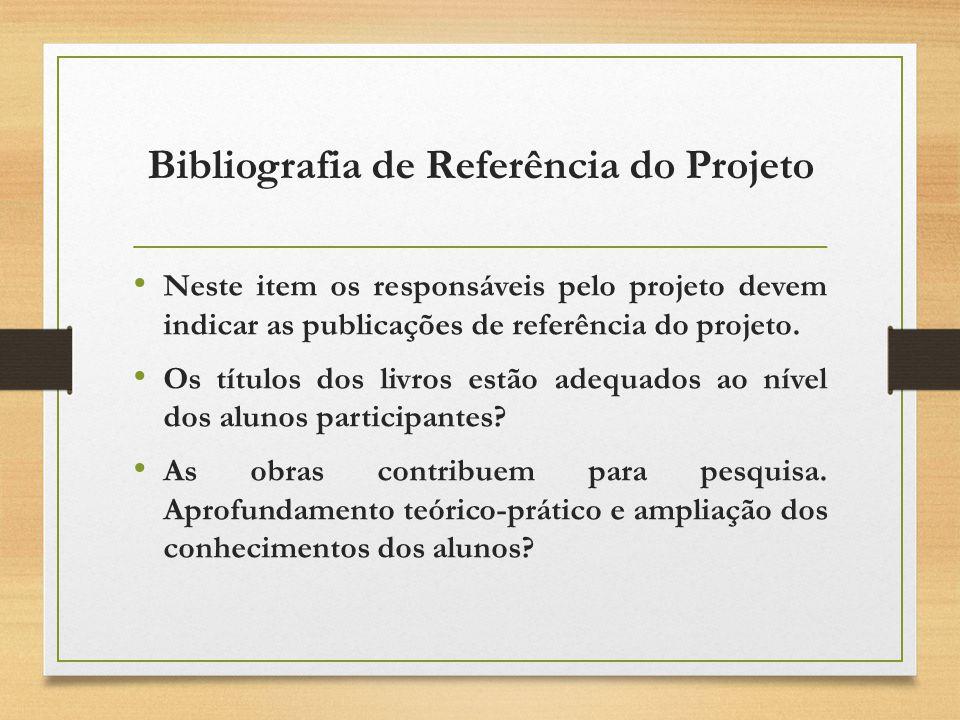Bibliografia de Referência do Projeto