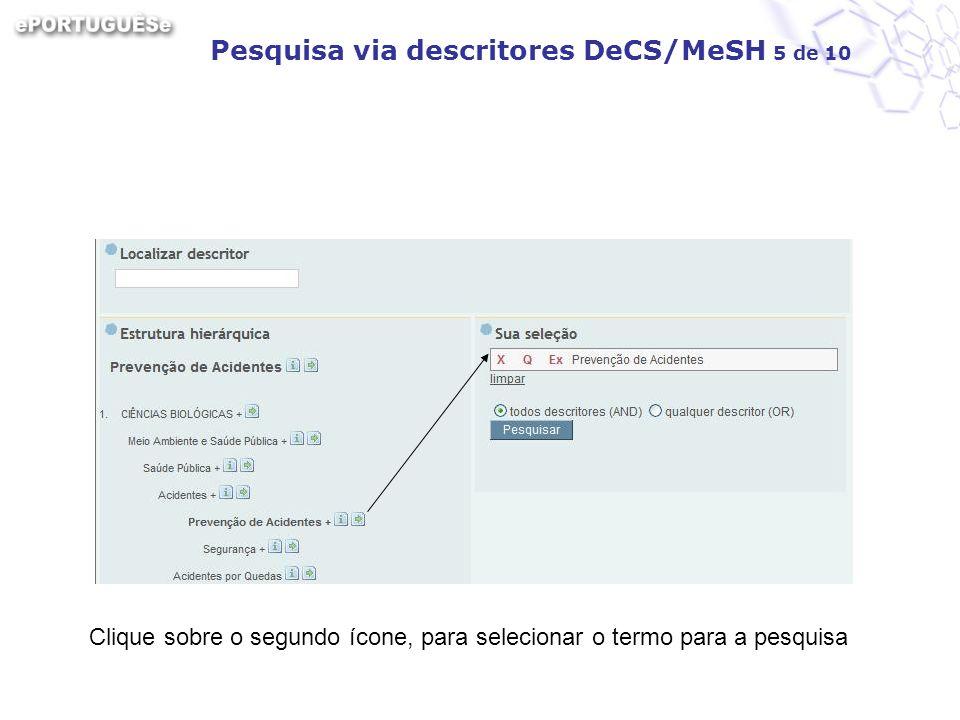 Pesquisa via descritores DeCS/MeSH 5 de 10