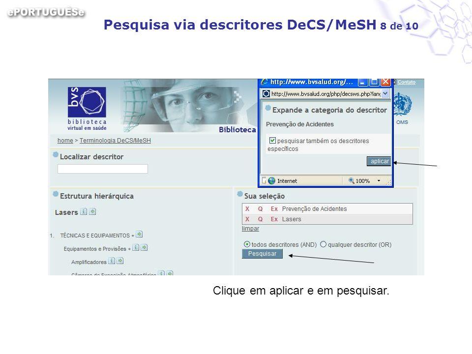 Pesquisa via descritores DeCS/MeSH 8 de 10
