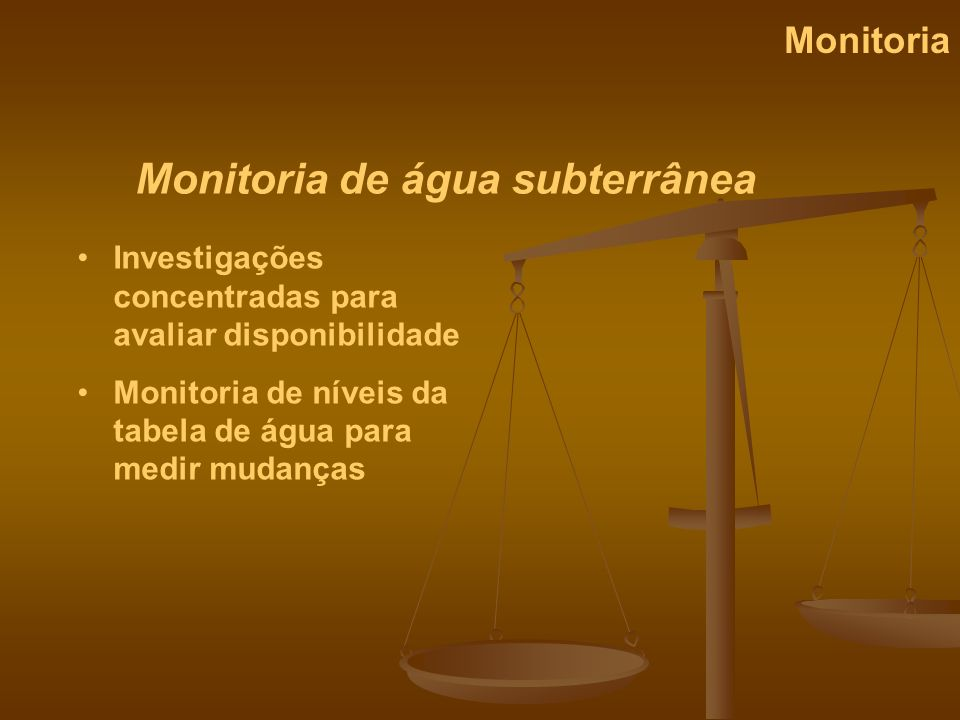 Monitoria de água subterrânea