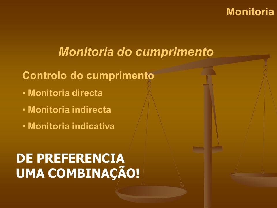Monitoria do cumprimento