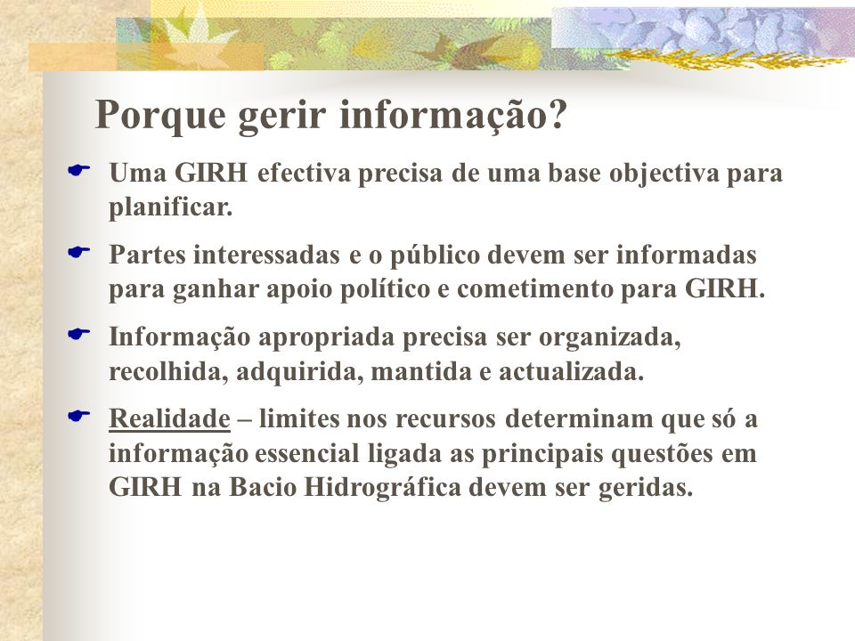 Porque gerir informação