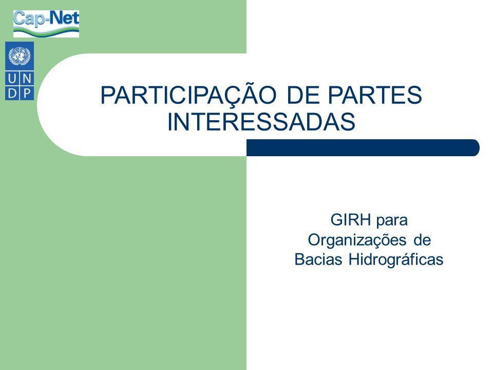 PARTICIPAÇÃO DE PARTES INTERESSADAS