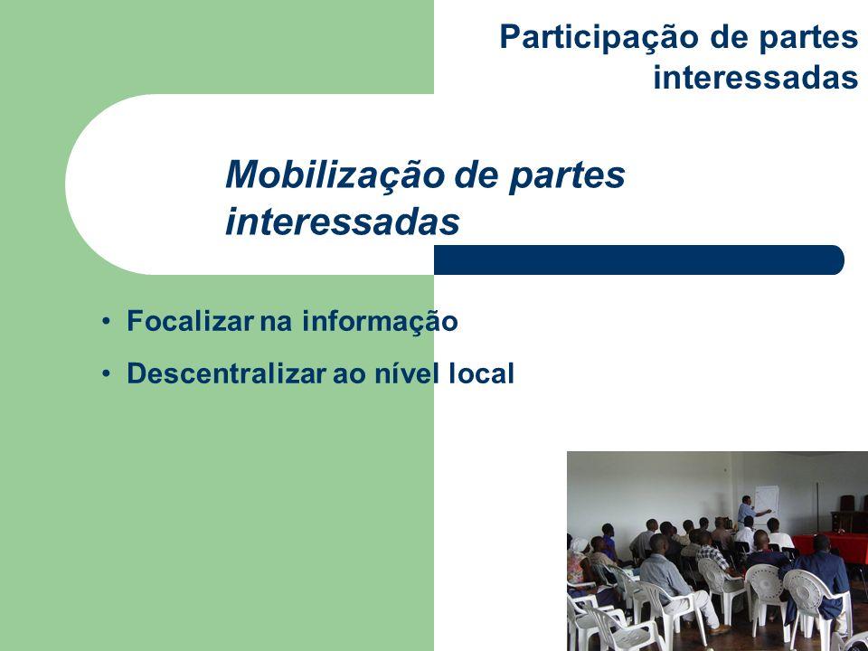 Mobilização de partes interessadas