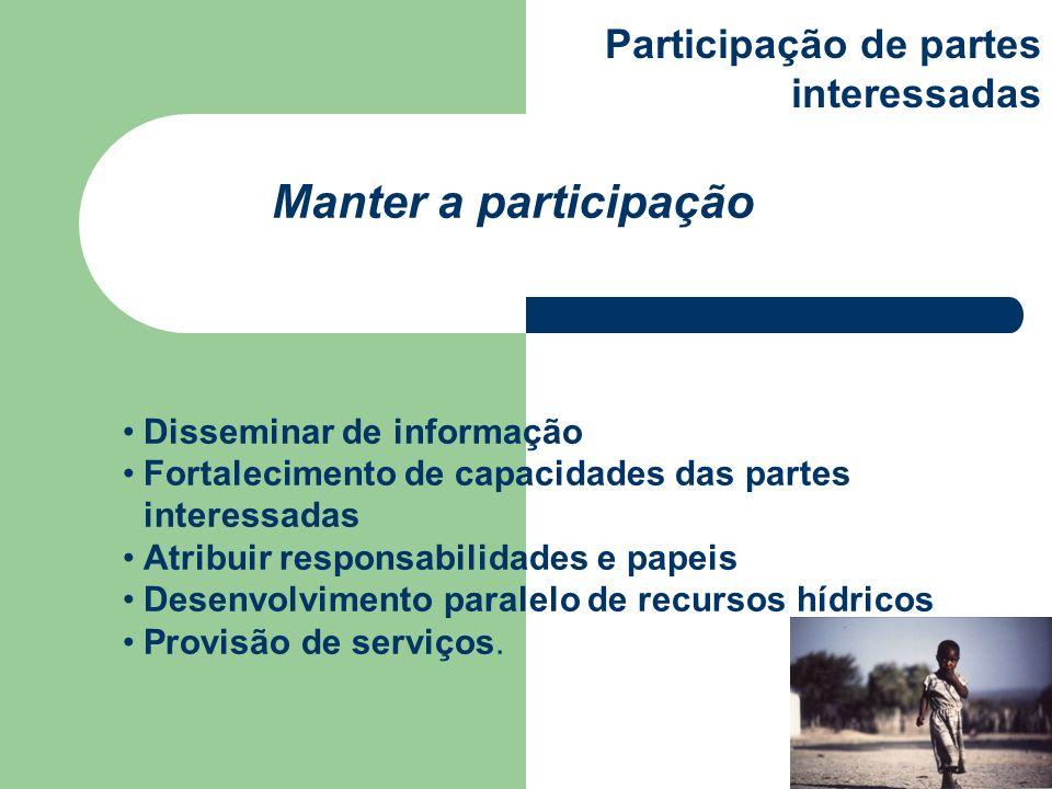 Manter a participação Participação de partes interessadas