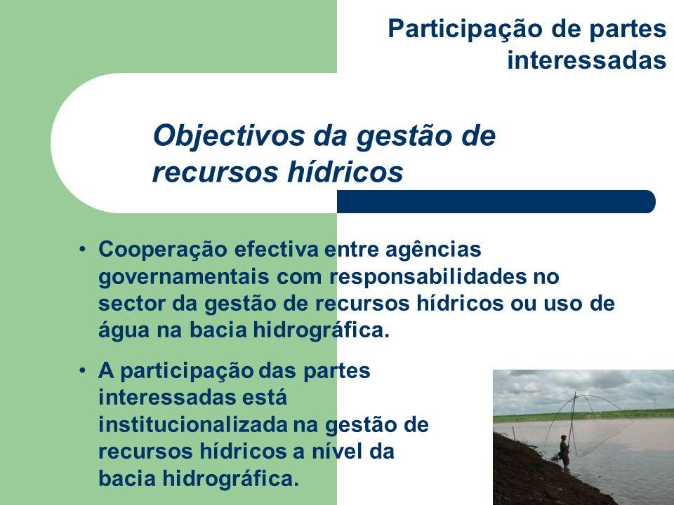 Objectivos da gestão de recursos hídricos