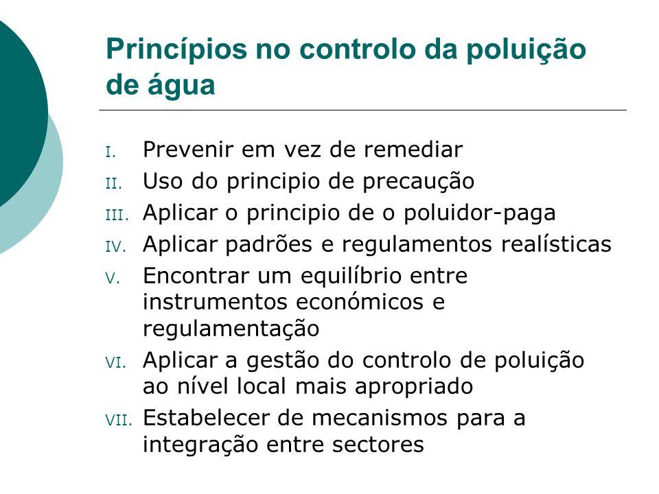 Princípios no controlo da poluição de água